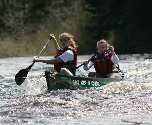 Canoeing on Baskahegan Stream -