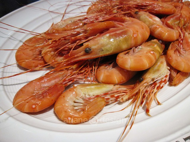 The whole beast (poached spot prawns)