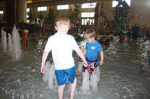 Playing at Great Wolf Lodge
