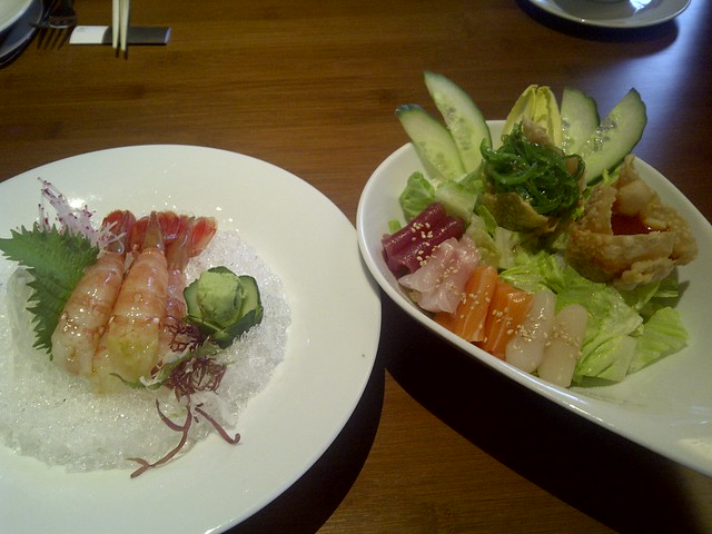 Spot Prawns and Salad