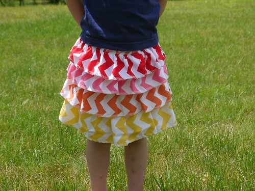 Chevron  twirly skirt