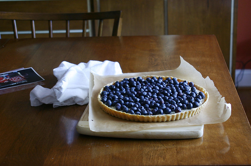 blueberry tart dining room table