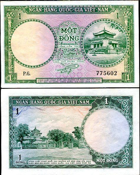 1 Dong Južný Vietnam 1956, Pick 1