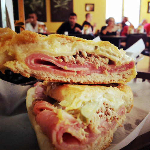 Cuban sandwich at Aguila Sandwich Shop