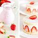 Strawberry Milkshake & Strawberry Mini Cakes by pozhidaeva