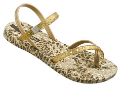 Sandal Premium III Fem (brown_gold-white)
