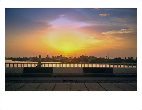 (21/52) Sunset  - Polaroid from Lagos