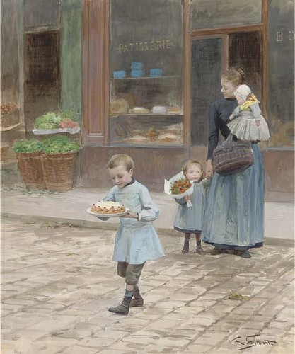"Victor-Gabriel Gilbert (1847-1933) ""The Birthday Cake"""
