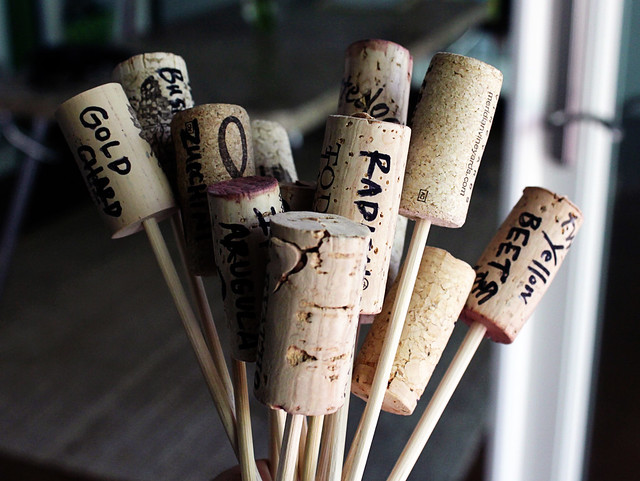 Cork Veggie Markers