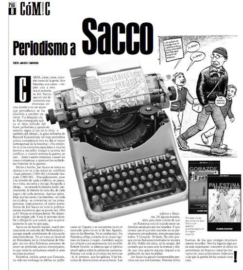 Periodismo a Sacco