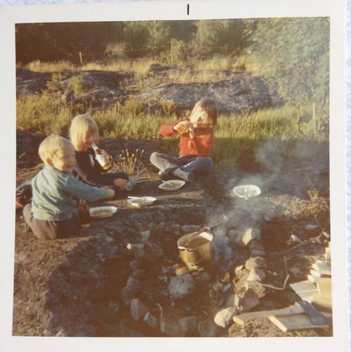 Jerk, Anna-Karin och Anna i Öregrund 1970