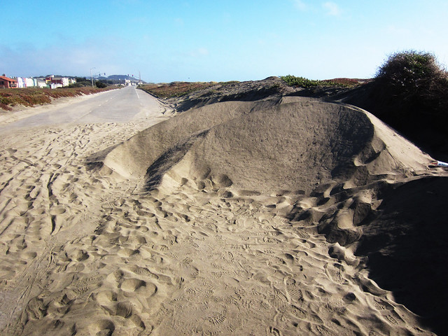 Sand Pile on Great Highway, San Francisco (2012)