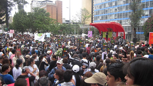 Gathering at the National Park of Bogotá, 3 June 2012