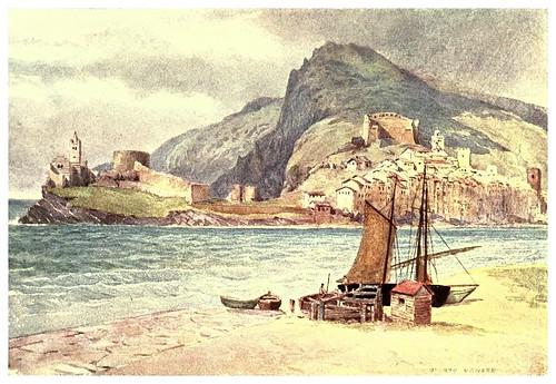 012-Porto Venere-Sketches on the old road through France to Florence-1905- Alexander Henry Hallam Murray