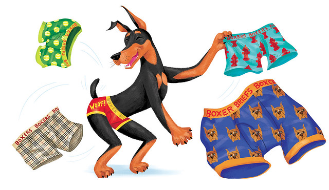 "Elwood Doberman Jr."" - spot illustration"