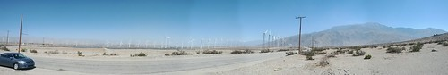 Panoramic view of Palm Springs, California