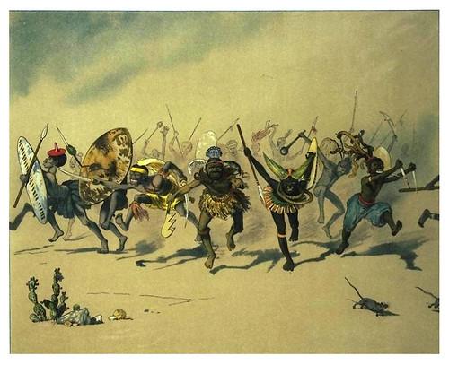 015-La danza de los guerreros-Afrika  Studien und Einfaelle eines Malers 1895- Hans Richard von Volkmann- Universitätsbibliotheken Oldenburg