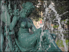 Genève / Geneva / (Suisse / Switzerland / Schweiz): Jardin Anglais, Fontaine des Quatre-Saison