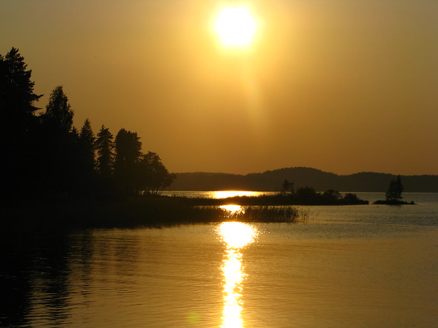 Sunset in Iitti