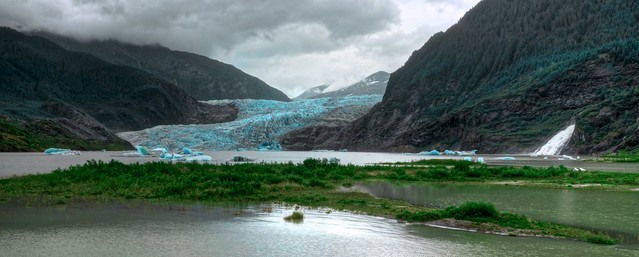 Mendenhall Lake & Waterfall