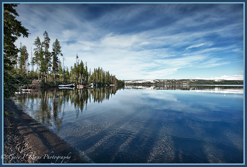 "Yellowstone Lake Reflections ""Explore"""