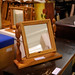 Pine mirror on stand