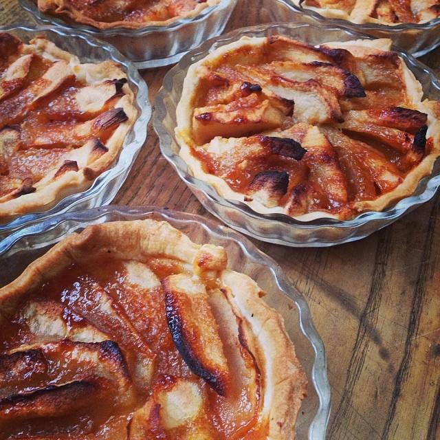 Tartelettes aux pommes au caramel