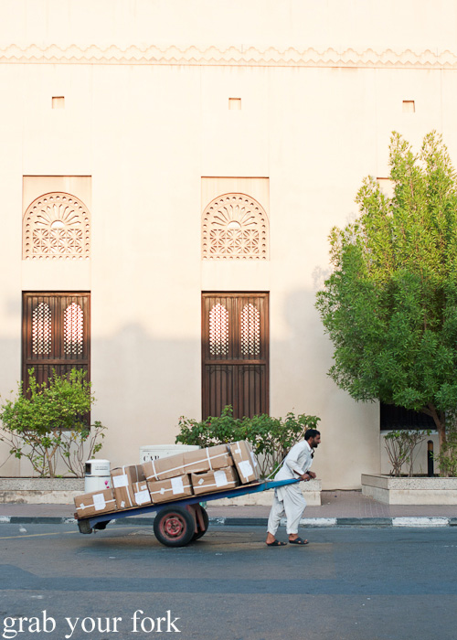 Delivery cart in Meena Bazaar, Dubai