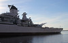 USS Wisconsin BB-64, Port side, looking aft. by Ron Monroe