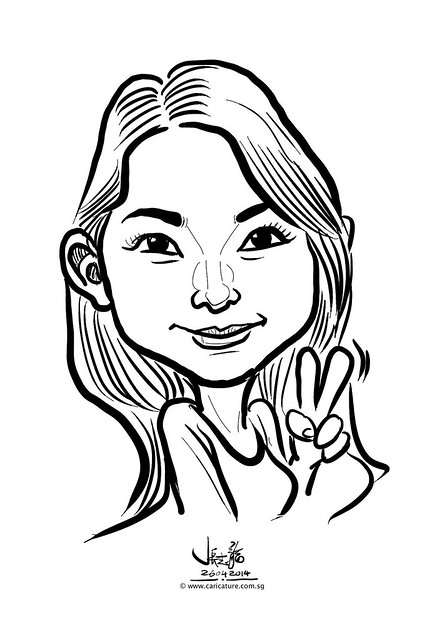 digital live caricature sketching for National Heart Centre Singapore -31