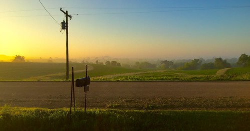 Sunrise in Oneco, Illinois