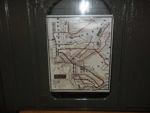 BMT map in old subway car at the New York Transit Museum