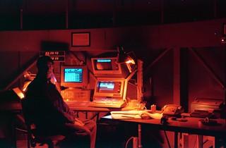 1988 Chile; La Silla at night; in the dome of the Dutch Telescope