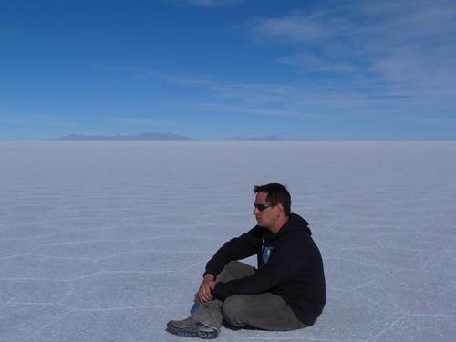 En el Salar de Uyuni (Bolivia)