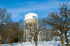 water tower, winter, tree, snow, tower,