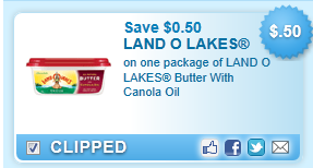 Land O Lakes Butter With Canola Oil  Coupon