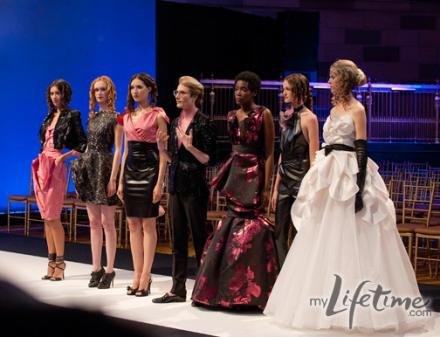 Austin on the runway with his models
