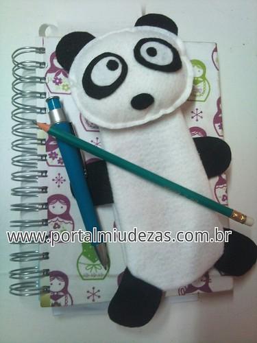 Panda Estojo by miudezas_miudezas