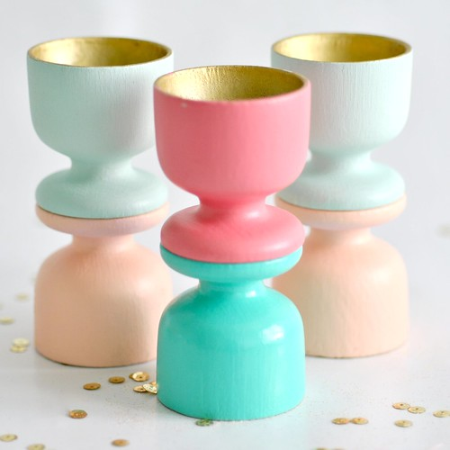 Painted egg cups