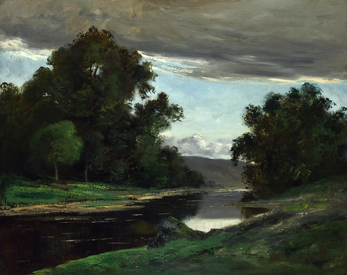 Imitator of Gustave Courbet - Landscape [19th century] by Gandalf's Gallery