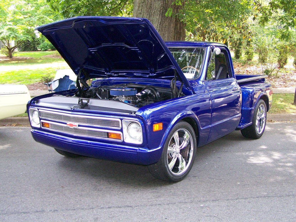 Blue 1968 Chevy C10 A Photo On Flickriver Pickup Truck