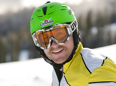 Ski cross racer Brady Leman in Nakiska.