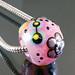 Charm bead : Pink Powder