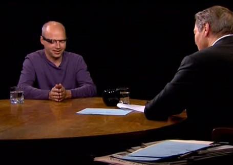Thrun saat sedang diwawancara dengan Rose di program talkshow The Charlie Rose Show