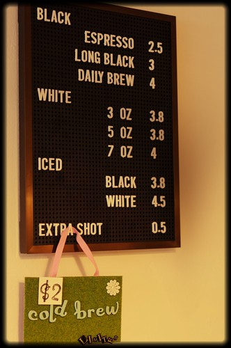 Nylon Coffee's Price List