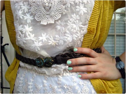 Brown Belt, Mint Nails