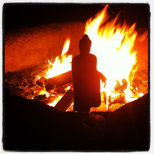 buddha and the fire