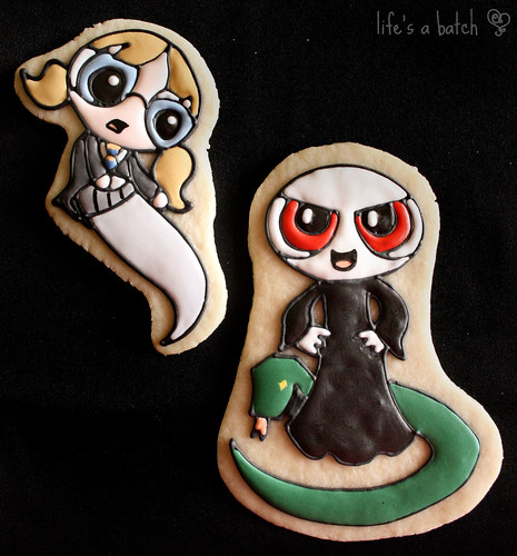 Moaning Myrtle & Voldemort Potterpuff Cookies.