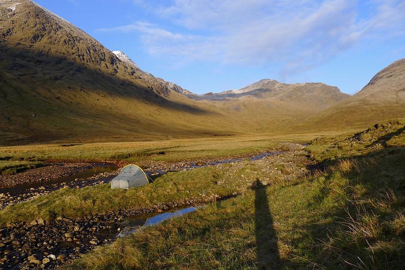 Idyllic camping near Loch Monar