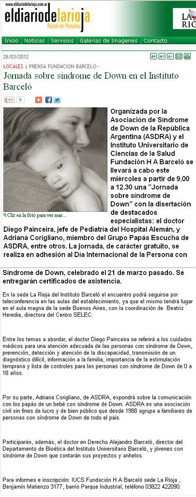 El Diario de La Rioja - Jornada Síndrome de Down - 28.03.2012
